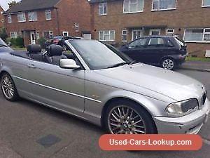 Silver BMW 318 convertible 2002 #bmw #318 #forsale #unitedkingdom