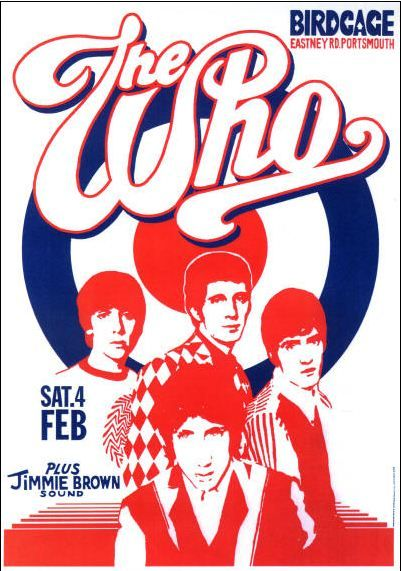 The Who vintage retro classic rock psychedelic concert poster