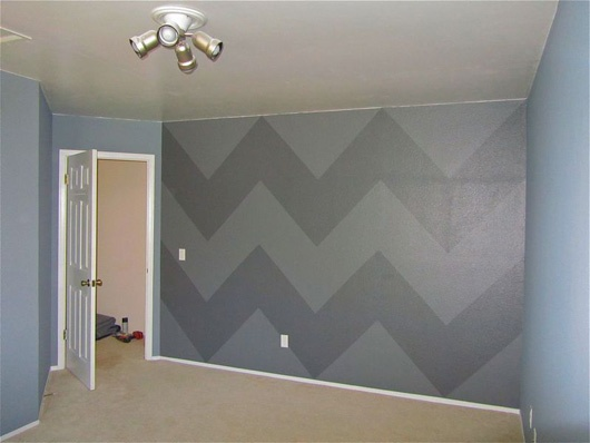 chevron stripes never thought of painting shapes and features on the walls