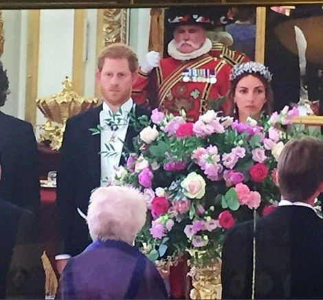 The Duke of Cambridge attended his first Palace banquet last year, while Prince Charles wa...