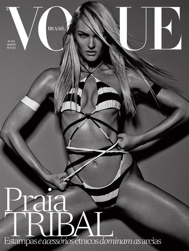 The January issue of Vogue Brazil puts the spotlight on Candice Swanepoel for its new covers.
