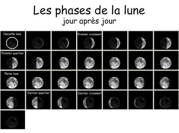 Les phases de la lune suivent un cycle bien précis