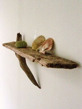 Natural Driftwood Shelf by Tasso Studio eclectic wall shelves