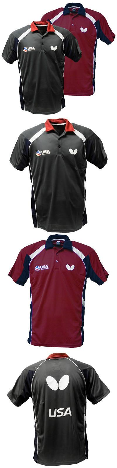 Shirts and Tops 70900: Butterfly Men S Usa Table Tennis Team Red Grey Polyester Shirt -> BUY IT NOW ONLY: $47.99 on eBay!