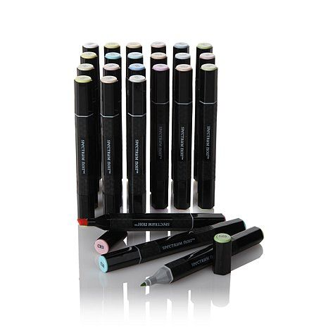 Spectrum Noir 24-piece Alcohol Marker Set | HSN I NEED BRIGHT!