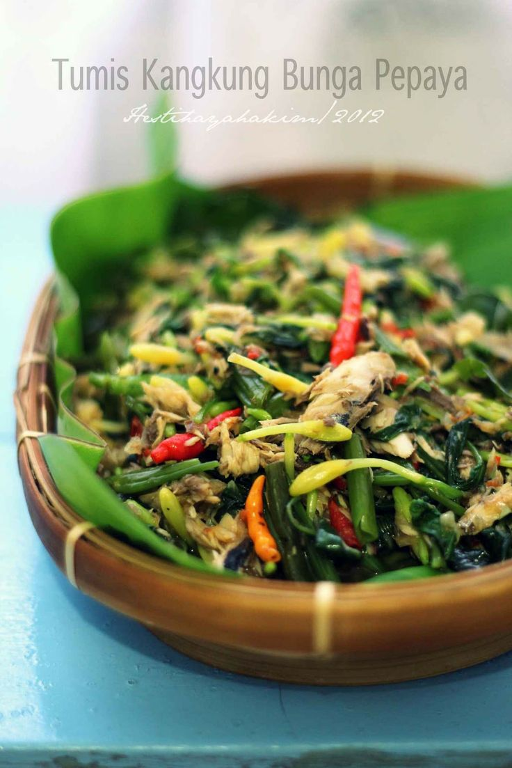 HESTI'S KITCHEN : yummy for your tummy: Tumis Kangkung Bunga Pepaya