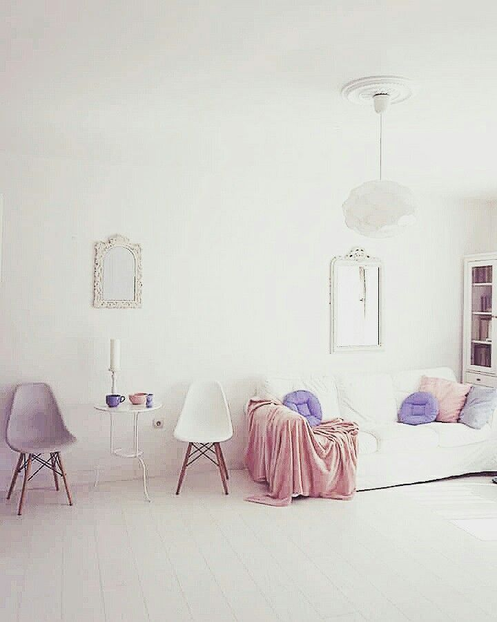 Scandinavian decor.Pastel decor.Nordic design.Peach decor.Bright interior.Scandinavian living room.