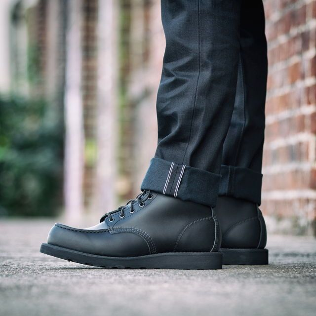 All Black Rw  Moc Toe  D B D Be D  D B D Bd D Ba D B Pinterest Red Wing Boots Red Wing Shoes And Red Wing Moc Toe