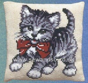 Kitten Cushion Front