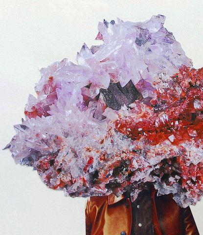Iulia Filipovscaia: EZ - Faust: The Mineral Man Series, 2013 #contemporaryart #mineral #collage www.kidsofdada.com/products/ez-the-mineral-man-series