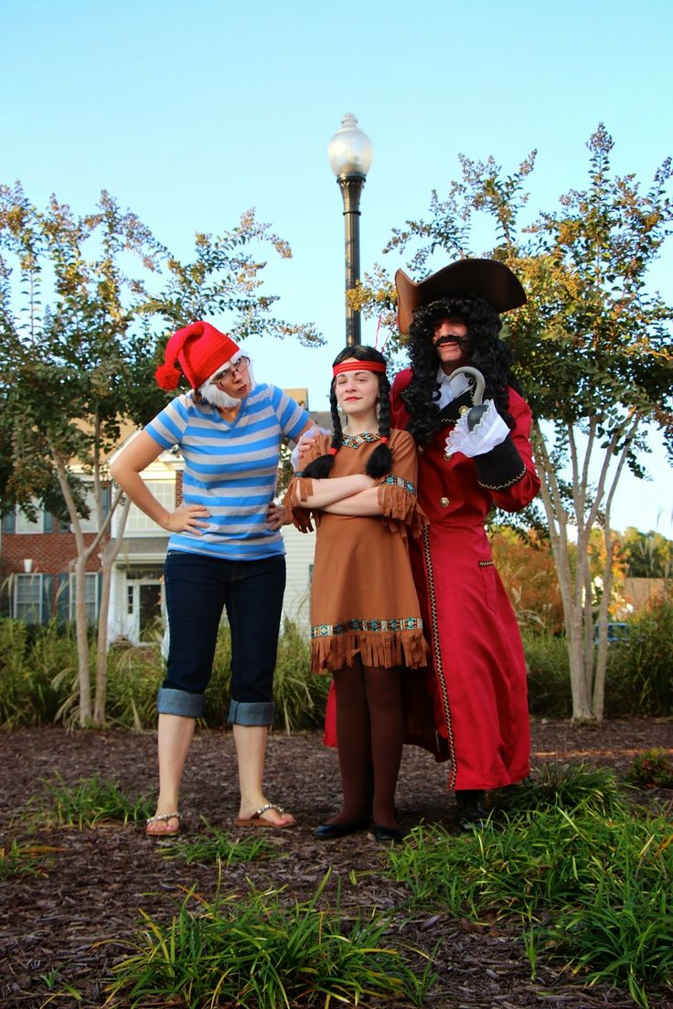 Peter Pan Costumes - Smee, Hook, & Tiger Lilly