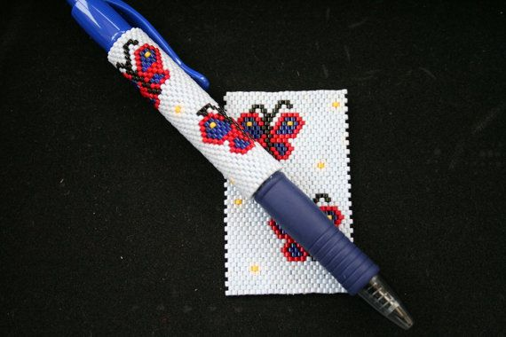 Hey, I found this really awesome Etsy listing at https://www.etsy.com/uk/listing/279802176/butterflies-even-count-peyote-pen-cover