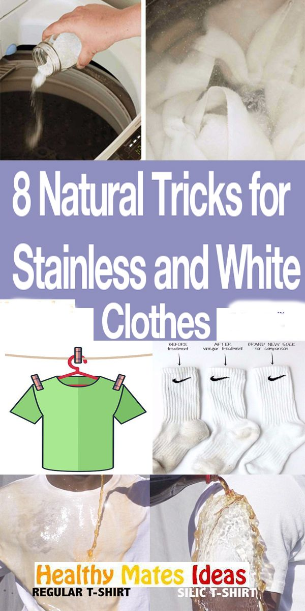 8 Natural Tricks for Stainless and White Clothes!