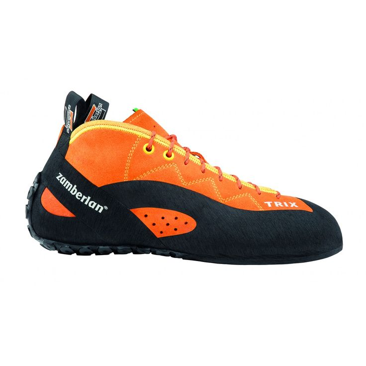A42 TRIX - Shoes built on this last are more oriented to provide comfort even after many hours of climbing. It has a flat bottom and it features a lower asymmetry. Wide and comfy sole.#zamberlan #climbing #trix #discoverthedifference
