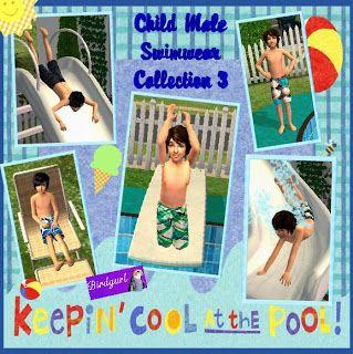 Birdgurl's Sims 2 Creations: Child Male Swimwear
