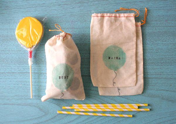 Darling Studio - muslin bag, potato stamp, alphabet letters, silver sharpie = CUTE!