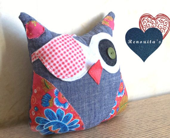 Pirate stuffed Owl kid's room decor  stuffed owl toy  by Renouitas