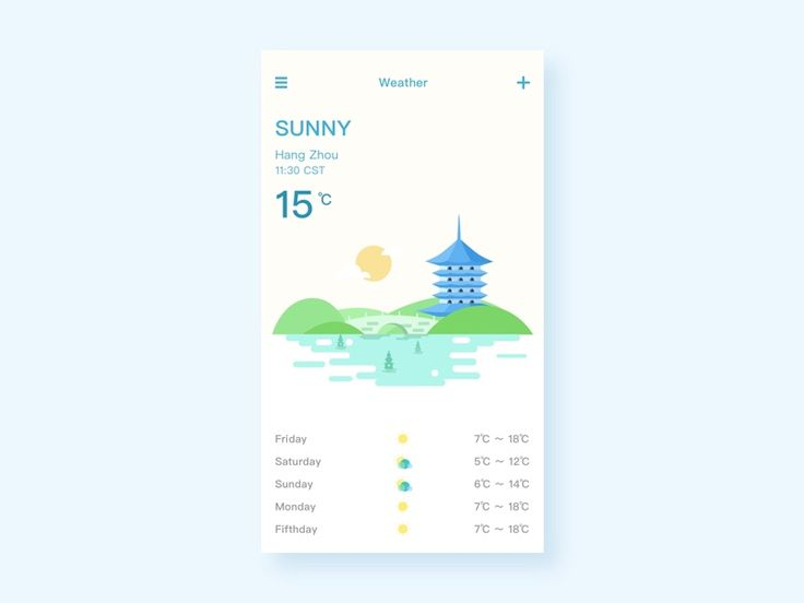 Like illustrations with weather