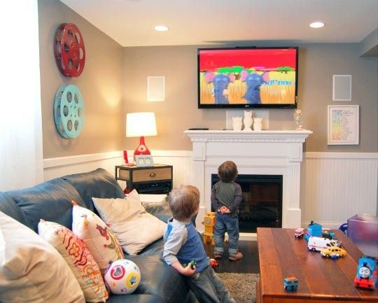 kerris family room in the basement - Basement Decorating Ideas