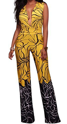 Special Offer: $25.89 amazon.com Mr.Seven Sexy Deep Vneck Sleeveless Printed Long Wide Leg Jumpsuit Romper Size Chart(Unit:Inch) S: Bust: 34.64″ Waist: 26.77″ Hips 34.64″ Length:57″ M: Bust: 36.22″ Waist: 28.34″ Hips 36.22″...