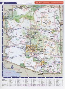 Maps Of Arizona Atlas Of Cities And Highways Of The State Of Arizona Az Maps Pinterest
