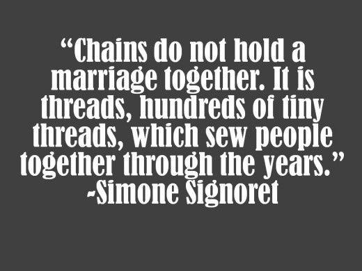 Chains cannot hold a marriage together, only true love can do that. 24 years strong. We have been together more than half our lives.
