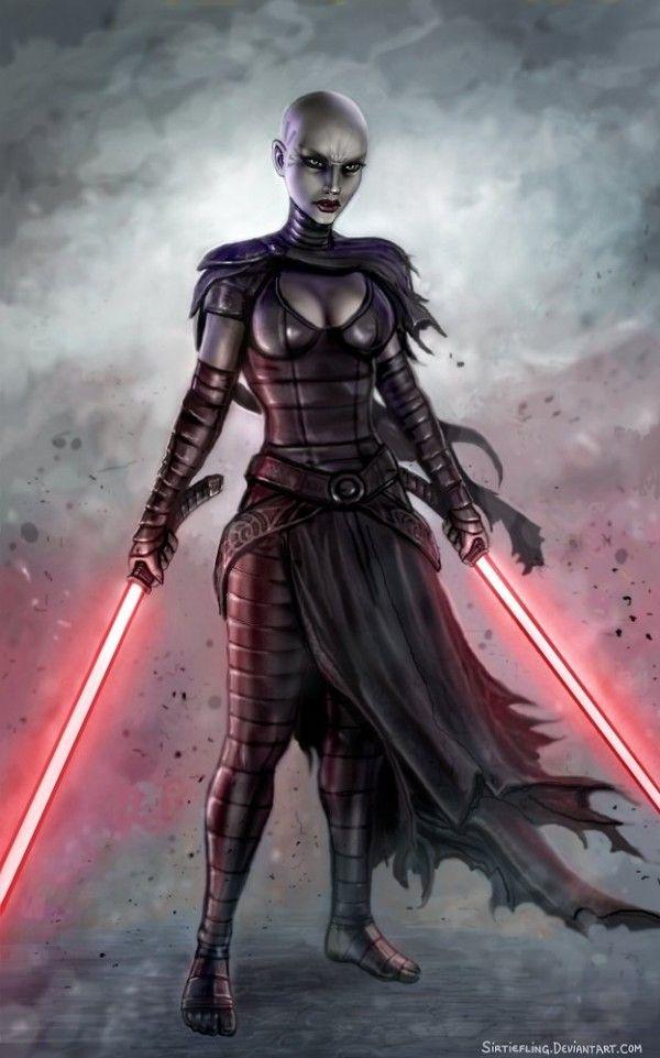 Asajj Ventress Hot | Les illustrations de super héros et fan art féminins SirTiefling