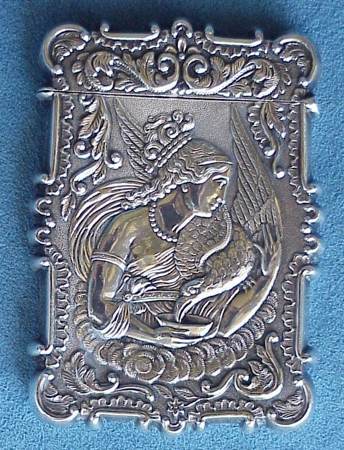108 best Antique Silver Calling Card Cases, Trays images on ...