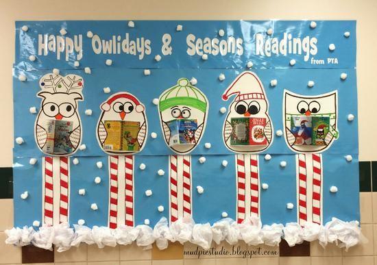 Owl Themed Reading and Holiday Bulletin Board Idea