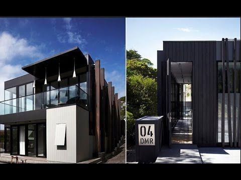 Черный дом из дерева и металла