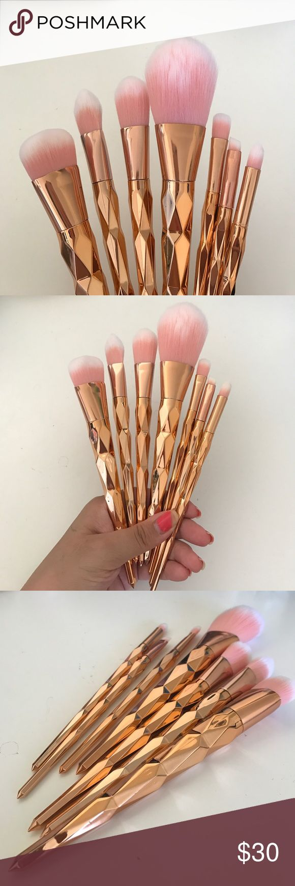 FLASH SALE7 piece unicorn makeup brushes Super soft unicorn horn makeup brush. They are super cute must have everyday brushes!  they are unbranded. Tarte for exposure. They are brand new and still in their packaging. I just took them out for pictures. THIS IS MY LAST SET IN THIS COLOR tarte Makeup Brushes & Tools