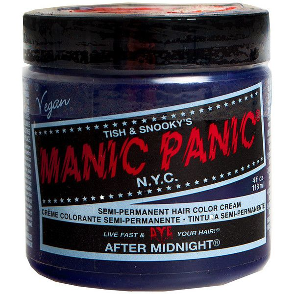 Manic Panic Classic cream hair dye – midnight blue hair dye – Manic... ($16) ❤ liked on Polyvore