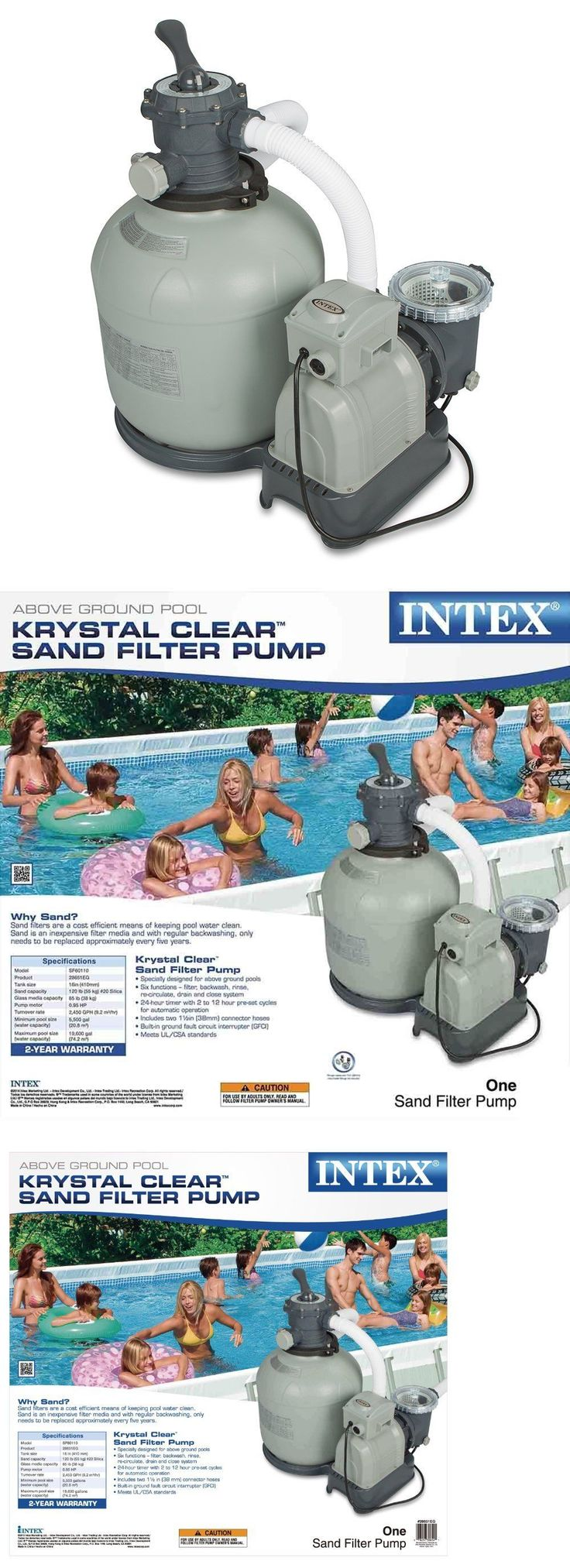 Pool Pumps 181485: Intex Krystal Clear Sand Filter Pump For Above Ground Pools, 3000 Gph System Flo -> BUY IT NOW ONLY: $180.99 on eBay!