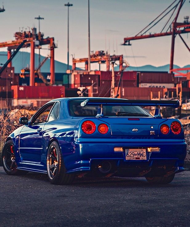 nissan skyline gtr r34 if its not te37s its not right