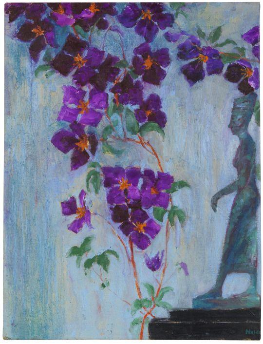 Emil Nolde (1867-1956) Figur und Clematis (1935) oil on canvas 88.5 x 67.5 cm