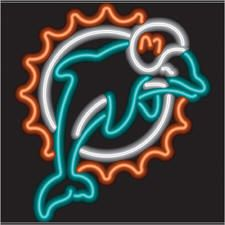 Miami Dolphins Neon Sign NFL Team Logo Football Fan Man Cave Sport Room Light