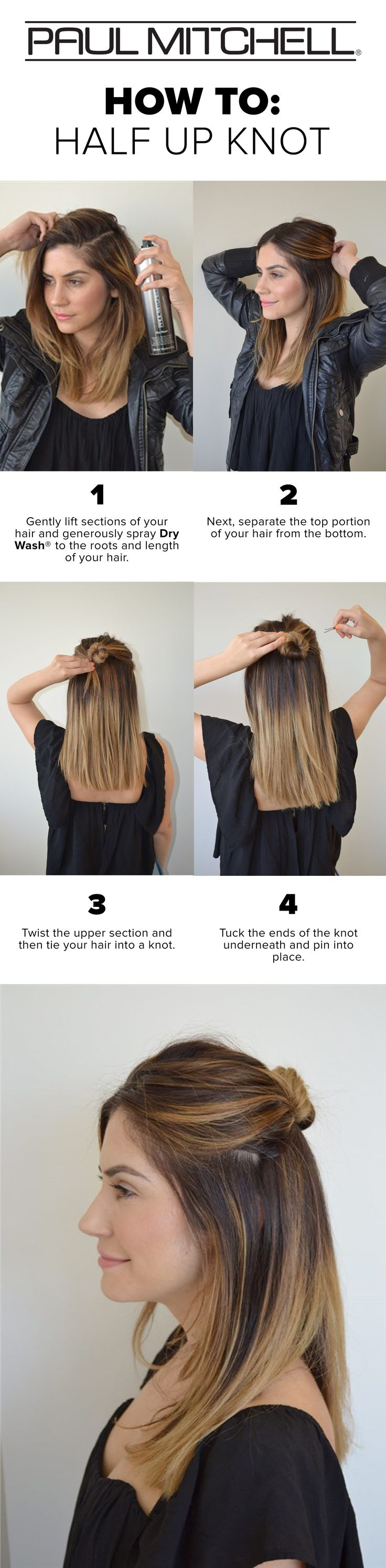 A Step by Step Guide to the Half Up Knot #BeyondTheBottle