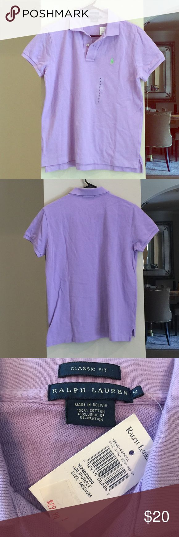 "Ralph Lauren Classic Fit polo size M Brand new Ralph Lauren Classic Fit polo! Color ""Bali Purple"" and 100% cotton. Ralph Lauren Tops Button Down Shirts"