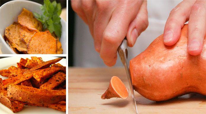 +20 recettes saines et gourmandes pour cuisiner la patate douce de l'entrée au dessert : en purée, en frites, au four ou gâteau moelleux.