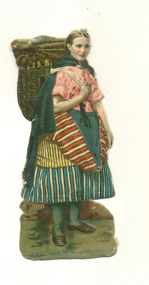 victorian scrap fisher lassie