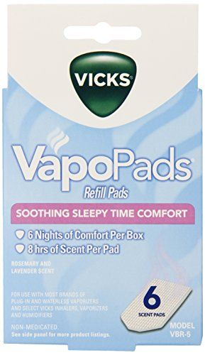 Vicks Sleepytime Waterless Vaporizer Scent Pads Pack of 2 Vicks http://www.amazon.com/dp/B007PF388Y/ref=cm_sw_r_pi_dp_VeRZub0ARXKTW