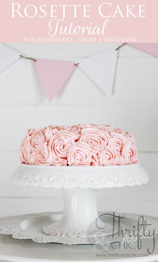 Rosette Cake Tutorial. It's not as hard as you think. Easy Beginner tutorial from a beginner