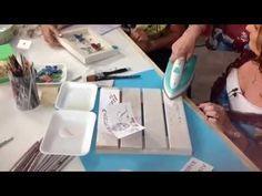 Cartel vintage con decoupage, stencil en relieve y craquelado casero -Tutorial - DIY - YouTube