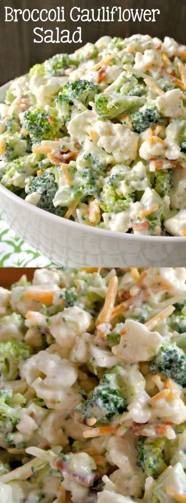 Deliciously Sweet Broccoli Cauliflower Salad