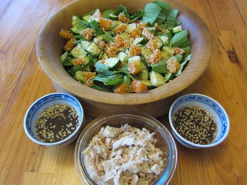 Baby Bok Choy Salad with Asian Dressing - yum #salad