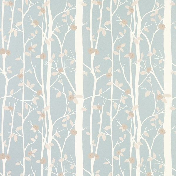 Cottonwood Leaf Wallpaper Duck Egg