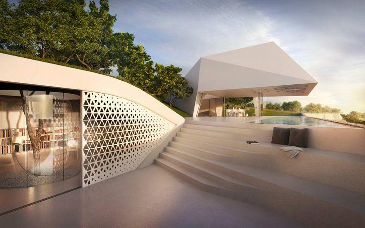 Проект современного дома у моря
