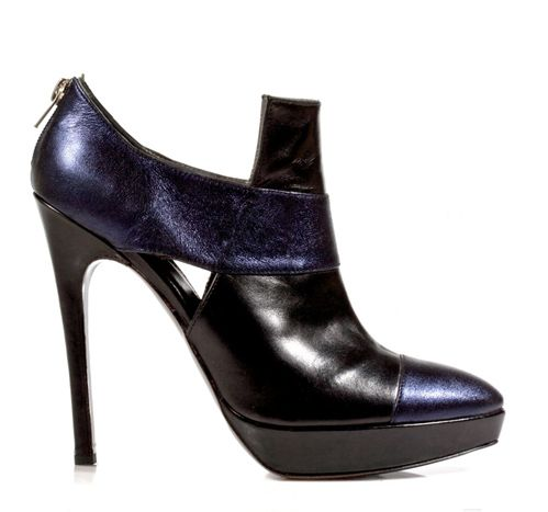 STATHIS SAMANTAS / Lambskin and calfskin booties Heel: 10.5cm with a 2cm platform
