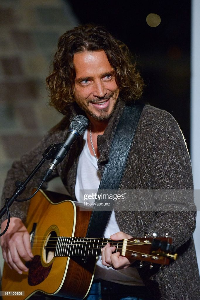 Chris Cornell of Soundgarden performs at The Historic Hollywood Tower on April 24, 2013 in Hollywood, California.