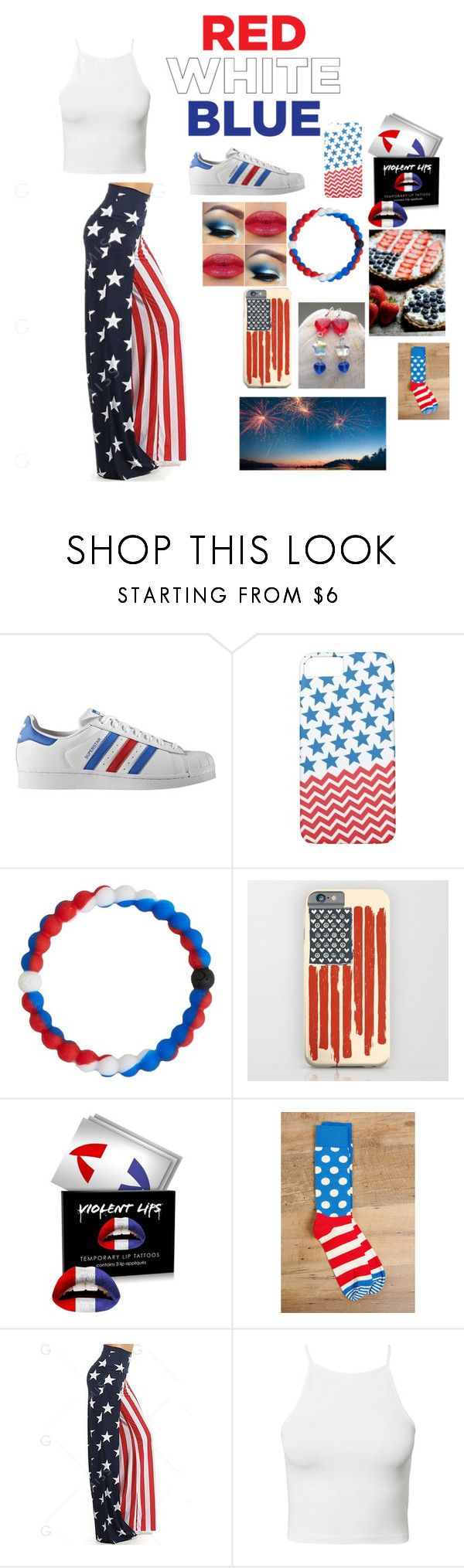 """""""❤️⭐️💙"""" by alyssachic ❤ liked on Polyvore featuring adidas Originals, Case-Mate, Lokai, Forever 21, Happy Socks and NLY Trend"""